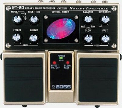 BOSS RT-20 Rotary Ensemble Pedal - Rotary Speaker Sounds & Pulsating Effects