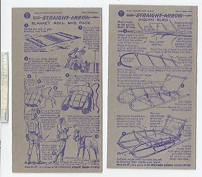 #46 Lot of 6 Diff 1950 NABISCO INJUN-UITY Cards Book #2 Cereal Straight Arrow