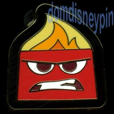 Disney Pin *Inside Out* Character Booster Collection - Anger Emotion (Red)!