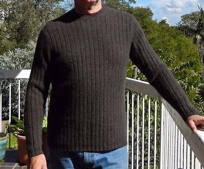 VINTAGE Gap 1980s Original Handsome Lambswool Knit Retro Sweater