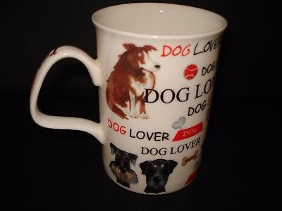 "Bone China ""dog Lovers Mug""   By Roy Kirkham In Very Good Condition"