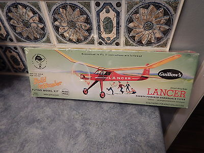 """Build by Number Balsa Wood Airplane Model Kit #604: Guillows LANCER: 24"""""""