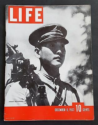 December 6, 1937 LIFE Magazine Old pre war ads 30's FREE SHIPPING Dec 12 5 7 8 9
