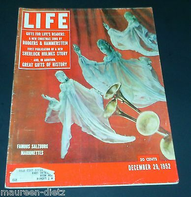 December 29, 1952 LIFE Magazine Marionettes 50s adds ads FREE SHIPPING Dec 12 28