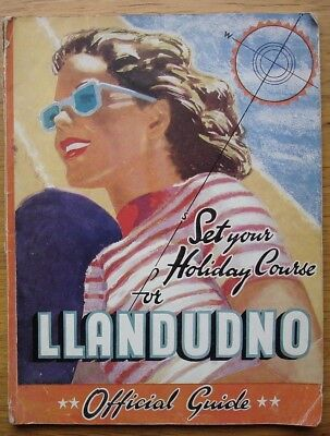Llandudno Official Guide c.1950. 140 pages inc.124 pages of accommodation