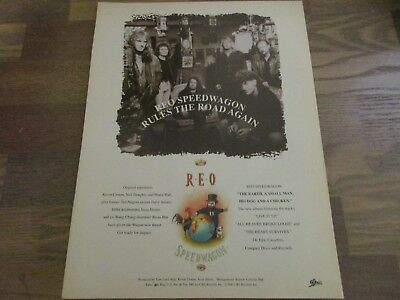 REO Speedwagon - The Earth A Small Man His Dog and A Chicken  1990's Print Ad