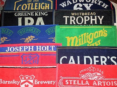 Brand New Bar Towel Beer Cloths Mats Retro Mancave Pub Lager Ale Bitter Brewery
