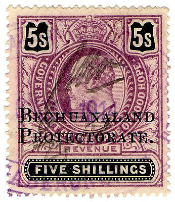 (I.B) Bechuanaland Protectorate Revenue : Duty Stamp 5/-
