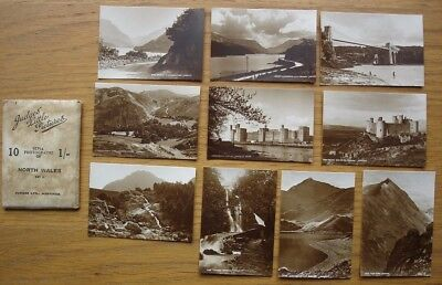 North Wales. 10 Sepia photos. Judges Little Pictures Set 2. c.1930s-50s