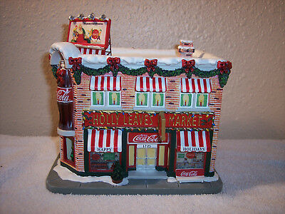 "Hawthorne Village Coca-Cola Holiday Village Collection ""Holly Leaves Market"""