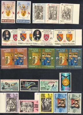 TURKS & CAICOS : 7 sets mnh