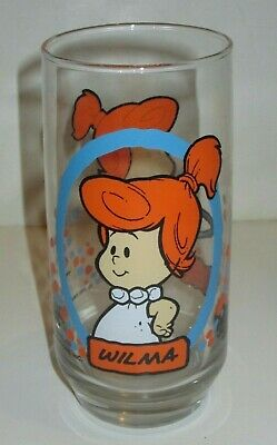 Vintage Pizza Hut Flintstone Kids Drinking Glass Wilma 1986 Hanna Barbera