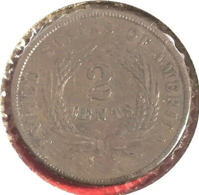 1864 US Two Cent Piece! Very Fine! Very Nice! Problem Free! Old US Coins!