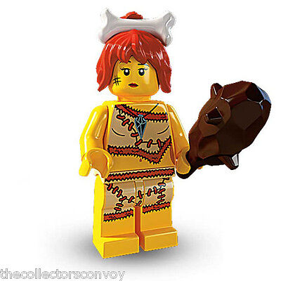 Lego 8805 minifigure Series 5: #5 Cave Woman (7pcs,New, out of packet)