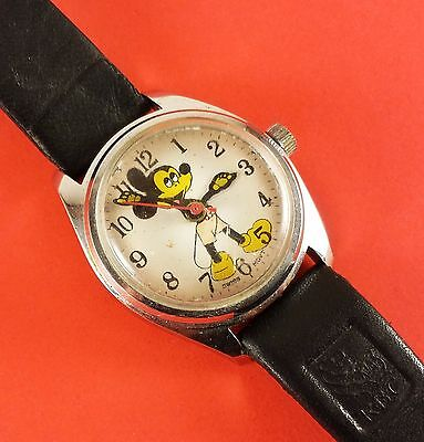 """Vintage Mickey Mouse Wrist Watch Wind-Up """" Swiss Movement """""""