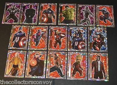 Topps MARVEL MISSIONS Trading Card Game - Super Holographic Foil Cards (257-272)