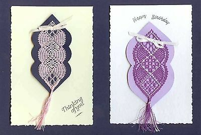 Bookmarks Bobbin Lace Pattern Lacemaking Card Making *PATTERN ONLY*