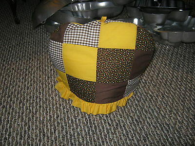 Yellow And Brown Quilted Tea Cozy