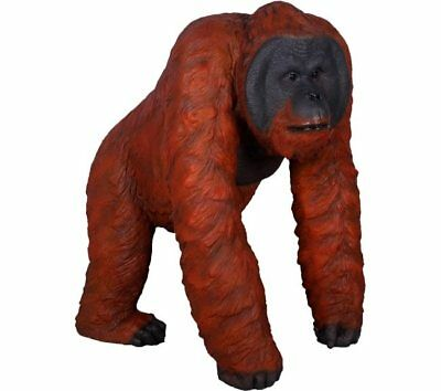 Orangutan Monkey Ape Walking Life Size Resin Statue Jungle Theme Decor Display