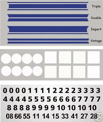 MG3016BL - Blue Slot Car Vinyl Decals 1:64 HO Fits AFX, Aurora, T-Jet, Tyco