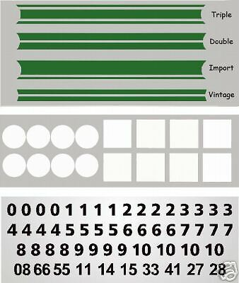MG3016G - Green Slot Car Vinyl Decals 1:64 HO Fits AFX, Aurora, T-Jet, Tyco