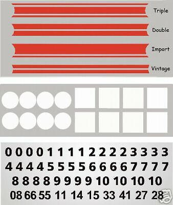 MG3016R - Red Slot Car Vinyl Decals 1:64 HO Fits AFX, Aurora, T-Jet, Tyco