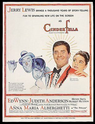 1960 Jerry Lewis by Norman Rockwell Cinderfella movie print ad