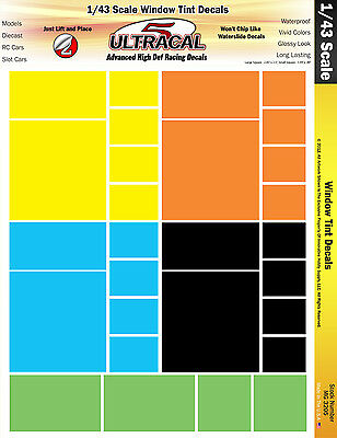 MG3205 1/43 UltraCal High Def Decals Window Tints Fit Die Cast, Models, Slot Car