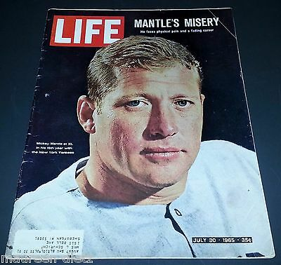 July 30, 1965 LIFE Magazine Mickey MANTLE + old ads 7/30/65 FREE SHIPPING 29 31