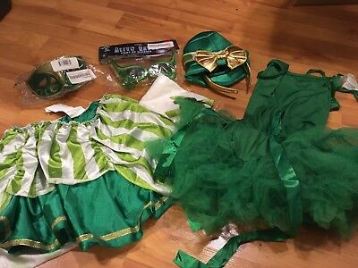 B73- Halloween Mixed Lot - st. patty's day costume and accessories size 4-10
