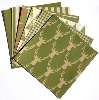 Pine Green - 6x6 Recollections Sleigh Bells Ring Scrapbooking Paper Pack