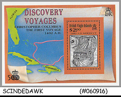 British Virgin Islands - 1992 Discovery Voyages Columbus First Voyage - M/s Mnh
