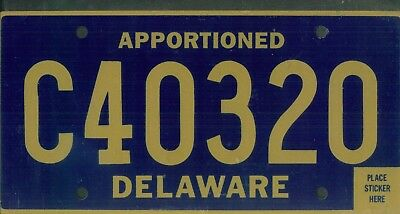 "DELAWARE license plate ""C40320"" ***APPORTIONED***MINT***"