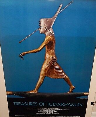 Treasures Of Tutankhamun Metropolitan Museum Of Art Huge Poster 1977