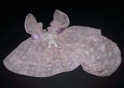 1955 Tagged Vogue Ginny Doll Organdy Dress & Bloomers #26 Kinder Crowd Series