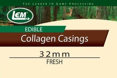 LEM Products Fresh Clear Edible Collagen Casing (32mm)