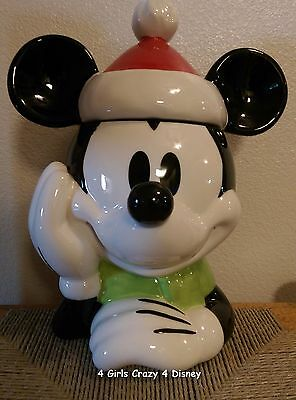 DISNEY Mickey Mouse As Santa Cookie Jar  NEW in box