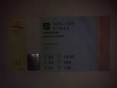 Ticket Olympic Games BARCELONA 1992 - Athletics 02.08.92 Final