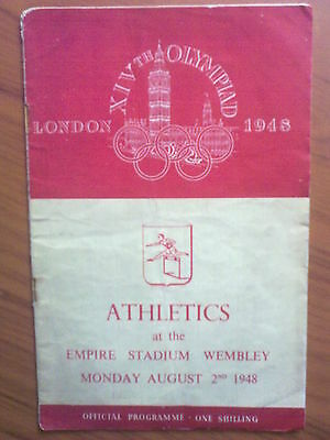 Programme Olympic Games LONDON 1948 - ATHLETICS 02.08.1948