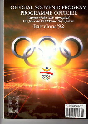 Official programme XXV Olympic Games BARCELONA 1992
