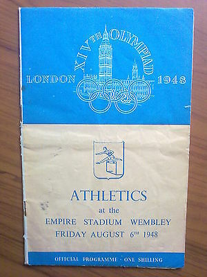 Programme Olympic Games LONDON 1948 - ATHLETICS 06.08.1948