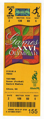 Ticket Olympic Games ATLANTA 1996 Football 3.Place BRAZIL - PORTUGAL
