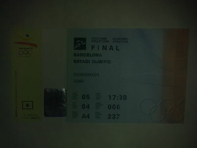 Ticket Olympic Games BARCELONA 1992 - Athletics 05.08.92 Final