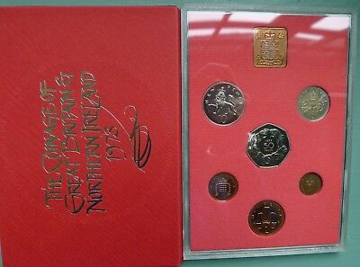 1973 Royal Mint 6 coin Proof set only Light Toning