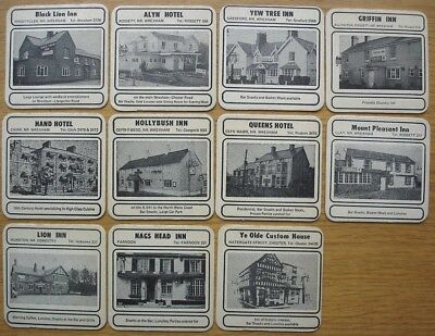 Border Breweries, Wrexham. 11 beermats featuring local pubs c.1970s?