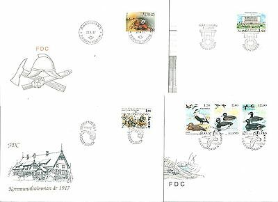 ALAND - 4 First Day covers 1987-1989