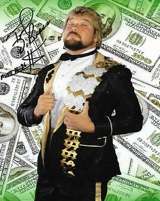 Ted DiBiase The Million Dollar Man Money Inc. WWF WWE Signed 8x10 Photo w/COA
