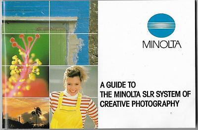 A Guide to The Minolta SLR System of Creative Photography 1984 in English