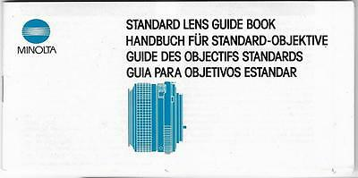Minolta Standard Lens Guide Book in English French German Spanish