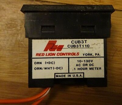 5 x Red Lion Controls CUB3T110 General purpose miniature counter USED FREE P&P